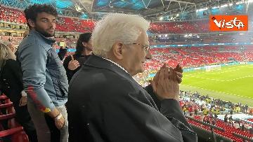 11 - Italia Campione d'Europa, l'esultanza di Mattarella allo stadio di Wembley