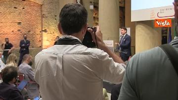 5 - Le immagini della conferenza stampa di Giuseppe Conte al Tempio di Adriano