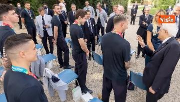 13 - L'Italia campione d'Europa arriva al Quirinale per incontrare Mattarella. Le immagini