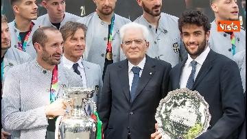 6 - L'Italia campione d'Europa arriva al Quirinale per incontrare Mattarella. Le immagini