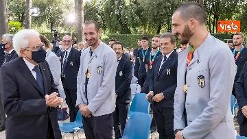 1 - L'Italia campione d'Europa arriva al Quirinale per incontrare Mattarella. Le immagini