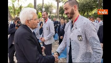 15 - L'Italia campione d'Europa arriva al Quirinale per incontrare Mattarella. Le immagini