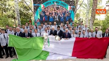 5 - L'Italia campione d'Europa arriva al Quirinale per incontrare Mattarella. Le immagini
