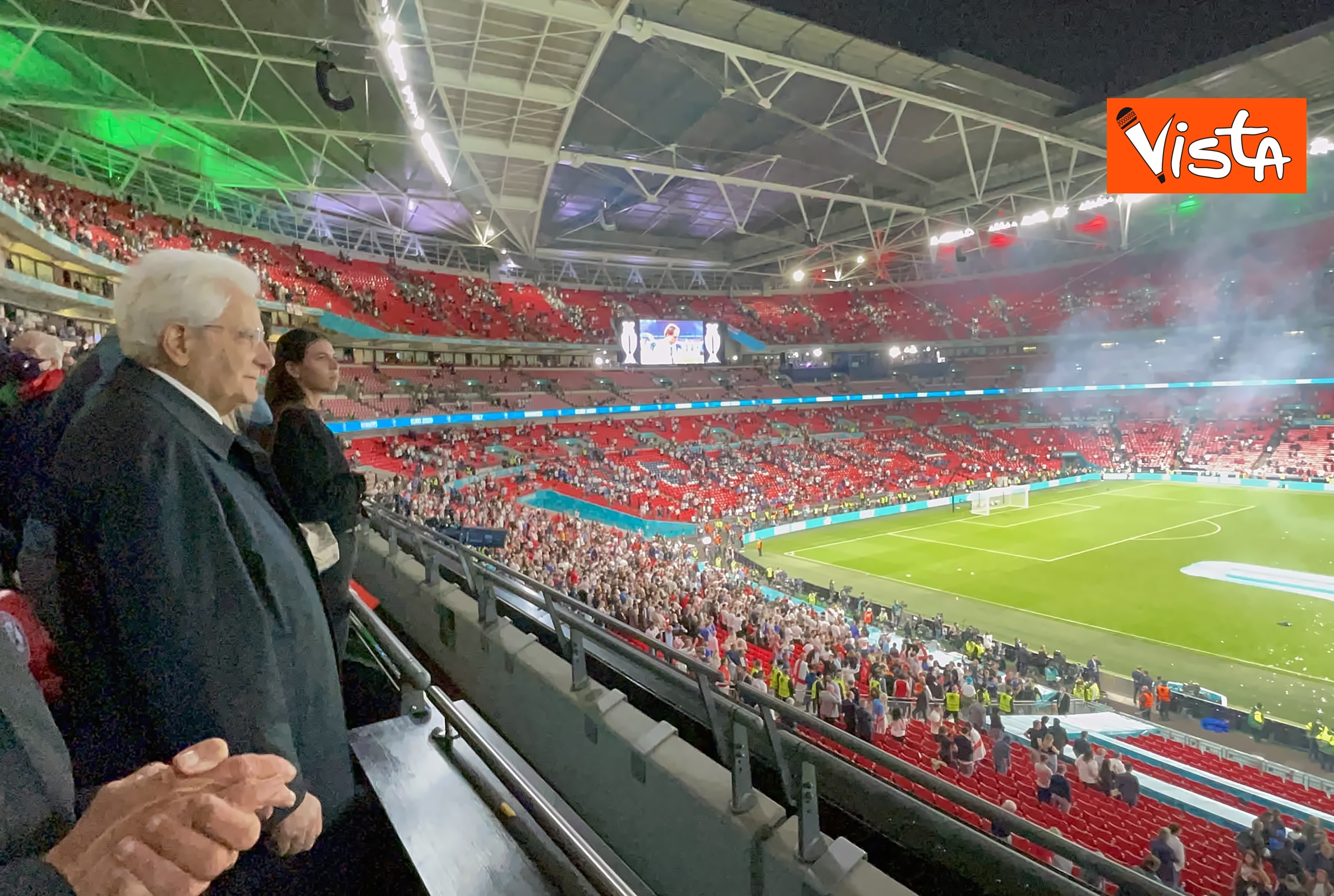 Mattarella allo stadio di Wembley4