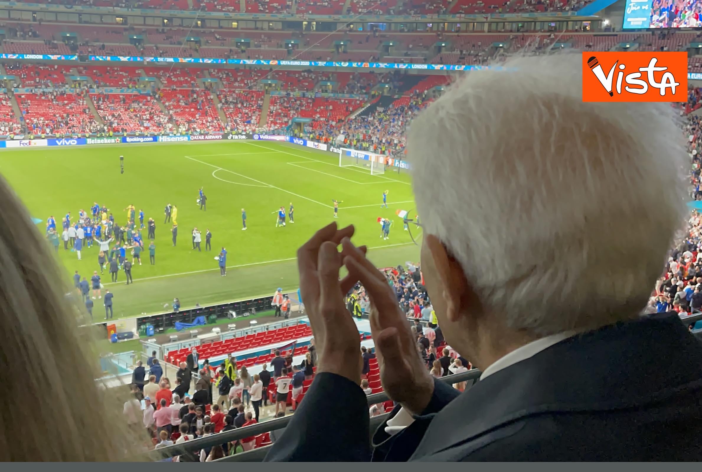 Mattarella allo stadio di Wembley3