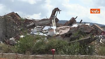 4 - Commemorazione vittime Amatrice, le immagini della città distrutta dal terremoto del 2016