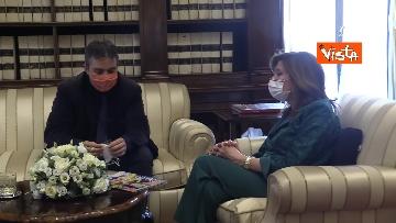 4 -  La presidente del Senato Casellati incontra il direttore della Agenzia Vista Alexander Jakhnagiev. Le foto