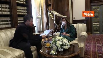 7 -  La presidente del Senato Casellati incontra il direttore della Agenzia Vista Alexander Jakhnagiev. Le foto