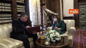 9 -  La presidente del Senato Casellati incontra il direttore della Agenzia Vista Alexander Jakhnagiev. Le foto