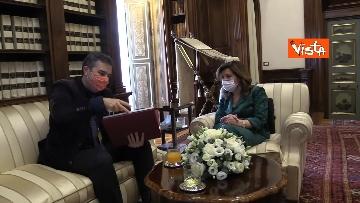 8 -  La presidente del Senato Casellati incontra il direttore della Agenzia Vista Alexander Jakhnagiev. Le foto