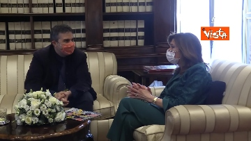 3 -  La presidente del Senato Casellati incontra il direttore della Agenzia Vista Alexander Jakhnagiev. Le foto