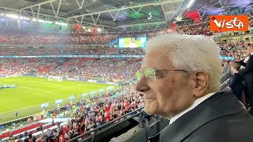 3 - Italia Campione d'Europa, l'esultanza di Mattarella allo stadio di Wembley