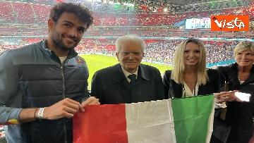 6 - Italia Campione d'Europa, l'esultanza di Mattarella allo stadio di Wembley