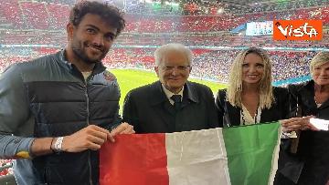7 - Italia Campione d'Europa, l'esultanza di Mattarella allo stadio di Wembley