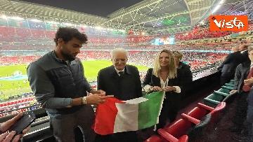 5 - Italia Campione d'Europa, l'esultanza di Mattarella allo stadio di Wembley
