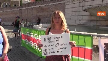 4 - No al Green pass, la protesta a Piazza del Popolo a Roma. Le foto