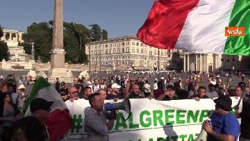 7 - No al Green pass, la protesta a Piazza del Popolo a Roma. Le foto