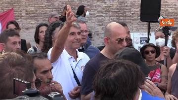 6 - No al Green pass, la protesta a Piazza del Popolo a Roma. Le foto
