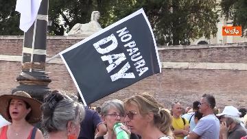 2 - No al Green pass, la protesta a Piazza del Popolo a Roma. Le foto