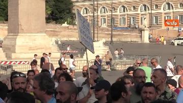 8 - No al Green pass, la protesta a Piazza del Popolo a Roma. Le foto