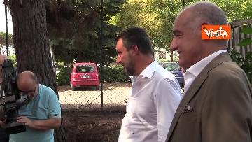 3 - Salvini e Michetti visitano il quartiere romano di Casale Caletto. Le foto