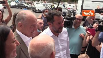9 - Salvini e Michetti visitano il quartiere romano di Casale Caletto. Le foto