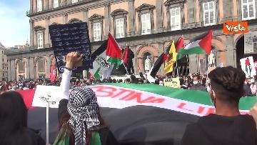 5 - In migliaia a Napoli sfilano a sostegno del popolo palestinese
