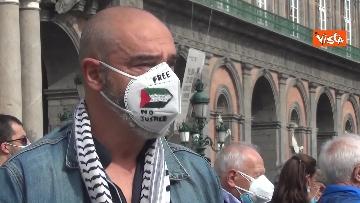 12 - In migliaia a Napoli sfilano a sostegno del popolo palestinese
