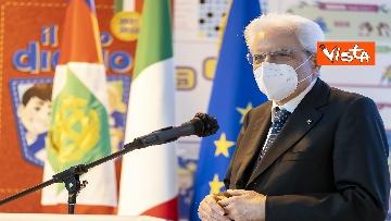 """6 - Il Presidente della Repubblica in visita all'Istituto Fiume Giallo per la resentazione de """"Il mio diario"""" per l'anno scolastico 2021/2022"""